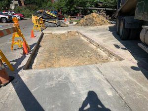 concrete street repair