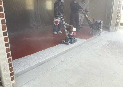 Garage Concrete Grinding